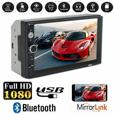 "Universale 7 "" 2 Din Autoradio 1080p Mp5 Lettore Touch Screen Bluetooth Radio Fm"