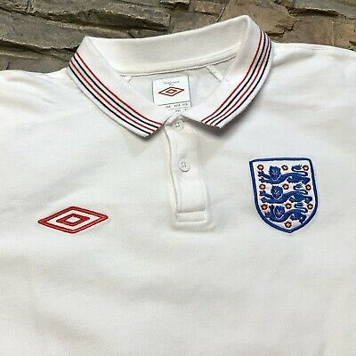 wholesale dealer 88d83 57a0f ENGLAND NATIONAL SOCCER Team Umbro Collared Jersey Futbol Mens M/L