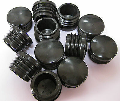 25mm plastic round tube insert Black Blanking End Cap Caps Tube Pipe plug bung