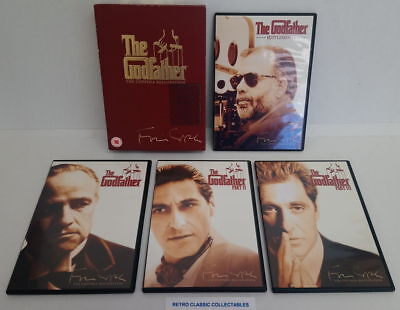 The Godfather Trilogy : The Coppola Restoration  (DVD, 2008, 5-Disc Box-Set)