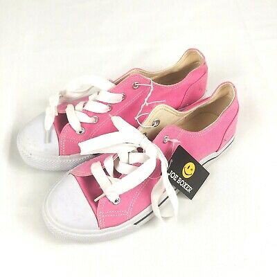 New Toddler Joe Boxer Recap Canvas Low Top Sneaker Rubber Toe Pink//White 71M sr