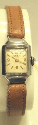 Vintage*Art Deco*Union Ancre*Swiss Mechanical Ladies Watch Works,Serviced # 199