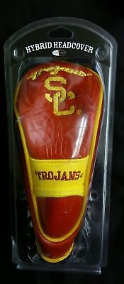 NCAA USC TROJANS Hybrid Golf Headcover Stretch Fit & secures on shaft