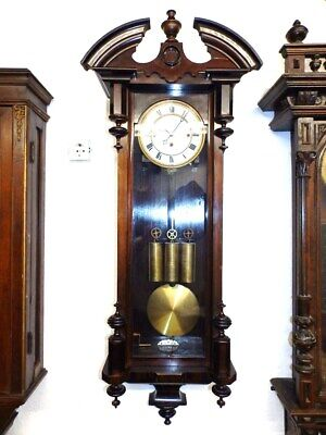 Very Nice Grand Sonnerie Wall Clock Regualtor With 3 Weights 1860 -1880