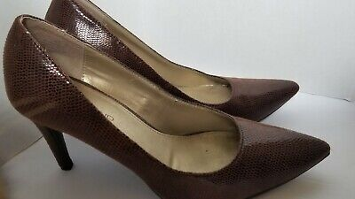 b153f127b63 BANDOLINO WOMEN'S HEELS Pumps Brown Pointy Toe FairBury 7M