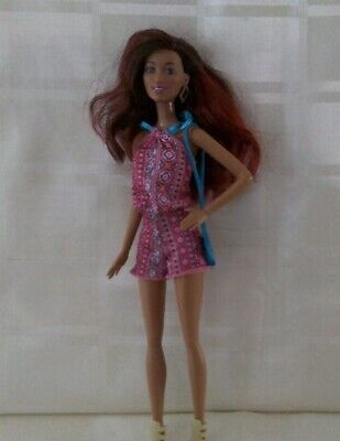 Barbie fashionista doll petite in tribal playsuit