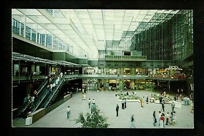 Minnesota MN postcard Minneapolis , The Crystal Court IDS Center mall chrome