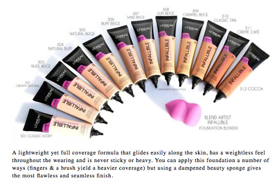 (1) Loreal Infallible Total Cover 24Hr Foundation, You Choose