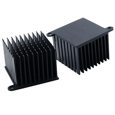 37*37*30mm Black Anodized Aluminium Heat Sink Power Transistor TO-126 With Ears