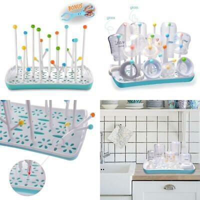Baby Bottle Drying Rack With Removable Water Tray Termichy Blue
