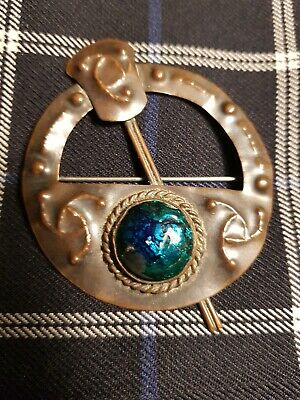 Antique Scottish Arts And Crafts Celtic Revival Shawl/Kilt  Brooch /Pin