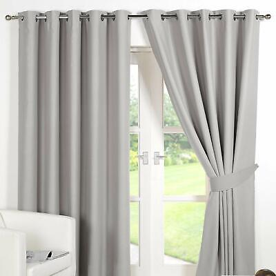 Dreamscene Eyelet Blackout Curtains Set Of 2 Thermal Ring Top Window Treatment P