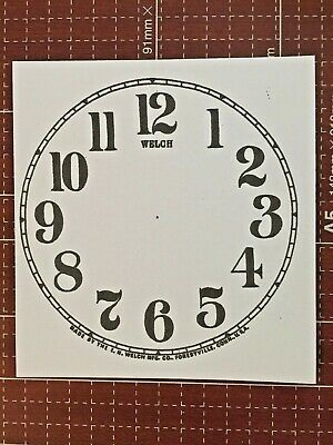 ONE PAPER DIAL 5 INCH TIME TRACK ARABIC NUMERAL WHITE DIAL