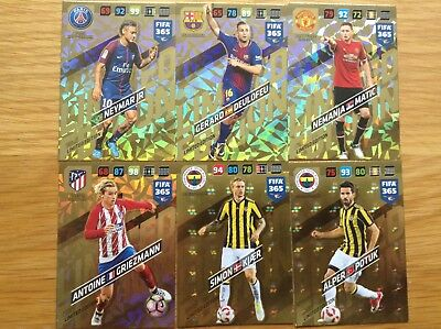 Panini Adrenalyn XL Fifa365 2018 Various Limited Edition cards
