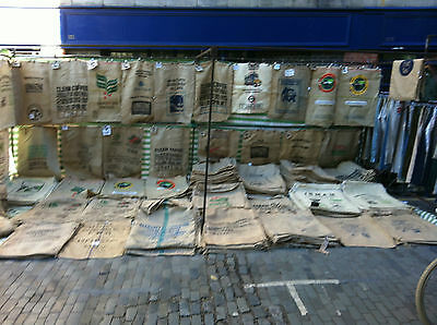 12 Used Coffee Sacks - BRICK LANE JUTE HESSIAN BURLAP COFFEE SACKS SALE