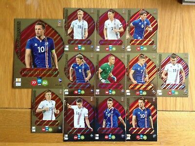 Panini Fifa World Cup Russia 2018 Iceland Limited Edition Cards