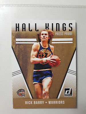 Rick Barry 2018-19 Donruss Basketball Hall Kings Press Proof 1/1 Unique Card