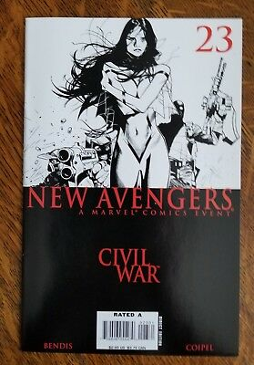 New Avengers (2005) #23 - Very Fine/Near Mint - Black and White variant