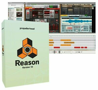 Propellerhead Reason 10 (Full) DAW Music Production Recording Software - SEALED