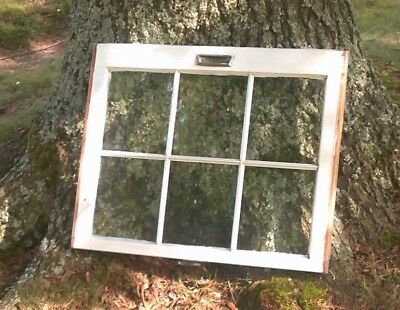 Old Vintage Antique Shabby Chic Window Frame 6 Pane Farmhouse Wedding Barn