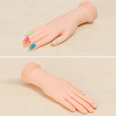Fake Hand For Nail Art Training And Display Movable Practice Nail Tools Model AU