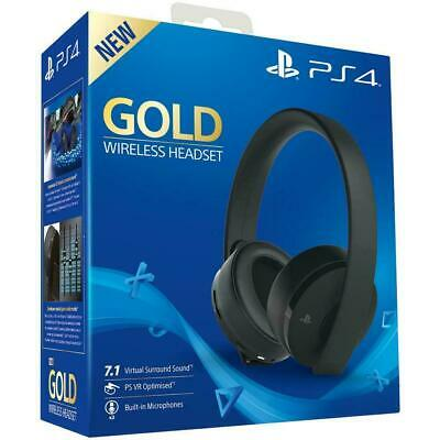 Cuffie Gold Wireless Headset per Ps4 Desing SONY Wireless BlueTooth Microfono IN