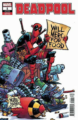 DEADPOOL #1  1:25 Skottie Young Variant Cover Marvel 1st Print New & Unread NM