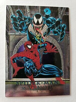1992 Marvel Masterpieces spectra etch card 4 Spider-Man Venom Joe Jusko