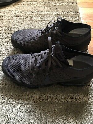 Air Vapormax Flyknit 1.0 BLACK / Gray Nike Men's Running Shoes Training SIze 11