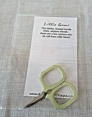 Kelmscott Designs LITTLE GEMS YELLOW SCISSORS  2""