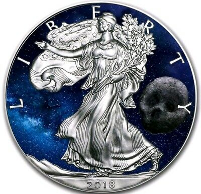 2018 USA $1 WALKING  LIBERTY DEATH COMET 1 Oz Silver Coin.