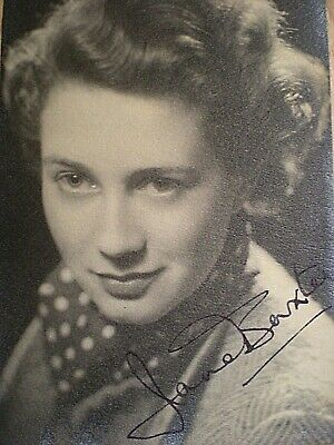 Young Hand Signed Vintage Postcard - Late English Actress Jane Baxter-Ga