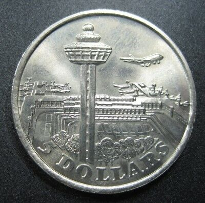 Singapore $5 1981 Changi Airport 52# World Money Coin
