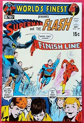 World's Finest Comics 199 DC 1970 3rd Superman Flash Race pt 2 Scarce