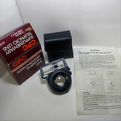 CPC Supplementary Telephoto Lens Canon Sure Shot AF35M II Autoboy 2 Accessory