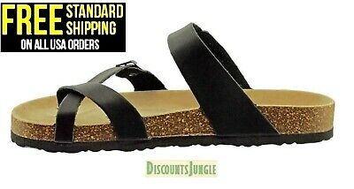 cae4376ac7d3 WOMENS OUTWOODS BRAND Size 10 Toe Loop Slip On Sandals in Leopard ...