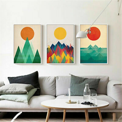 Geometric Abstract Nordic Poster Home Wall Canvas Print Modern Decoration Art