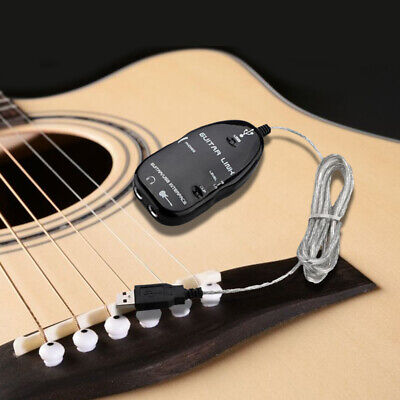Guitar to USB Interface Link Cable Adapter MAC/PC Recording CD Studio Laptop 9V