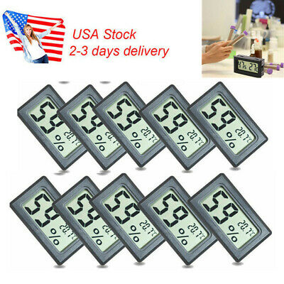 US 10Pcs Pack Home Mini LCD Digital Indoor Thermometer Hygrometer Humidity