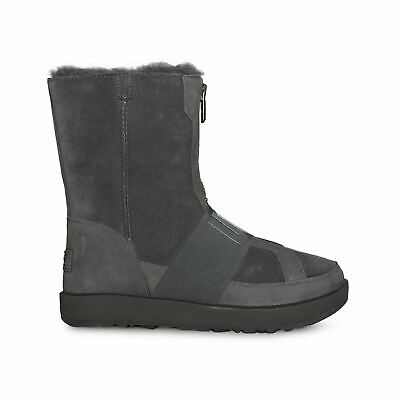 e4b38d66706 UGG CONNESS WATERPROOF Charcoal Suede Fur Boots Womens Size 9.5 *NIB ...