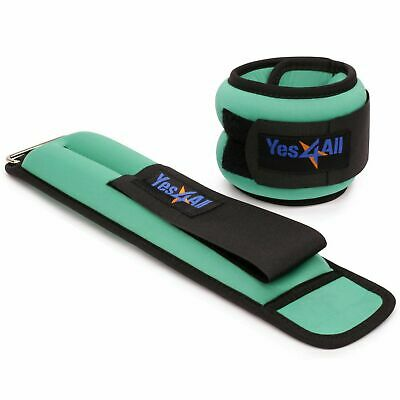 Ankle Wrist Weight Pair Adjustable Strap Strength Training Equipment Yes4All New