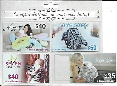 New Mother Four-Piece Gift Card Set in a folder, ready to use with $165 Value
