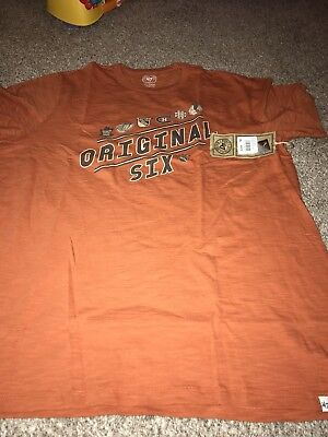 856c2237875fe5 47 Brand NHL Hockey Original 6 Six Scrum Shirt XL Burnt Orange
