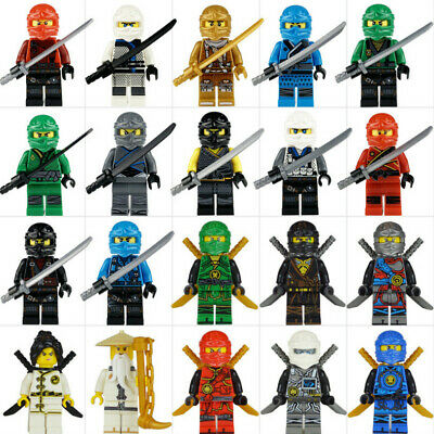 2019 20 Sets Ninjago Jay Cole Ninja with with Weapons Mini figures Fit Lego Toys