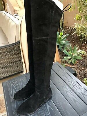 70032c158b1 DOLCE VITA  NEELY  Over The Knee Boots Black Stretch Suede Size 6M ...