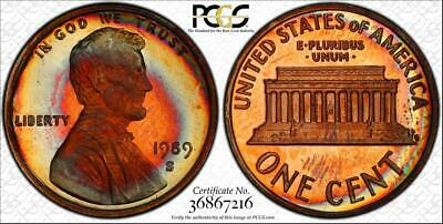 1989-S 1 Cent Lincoln Memorial Penny Bu Pcgs Pr67Rb Circle Toned Only 1 Higher!