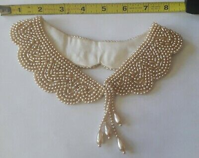 Vintage Faux Pearl Peter Pan Collar Or Necklace 1940s Perfect