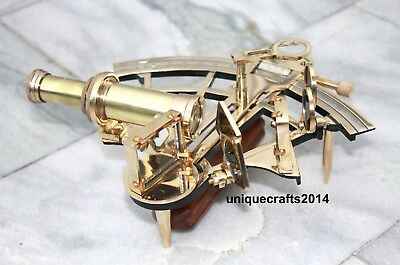 Maritime Collectible Nautical Shiny Brass sextant Ship Astrolabe Royal Item.