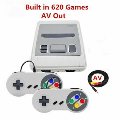 Mini Retro gioco Console AV Built-in 620 Super Nintendo Con 2 controller