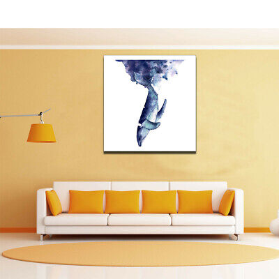 Whale Upside Down Poster Canvas Art Painting Living Room Picture Home Wall Decor